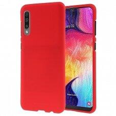 Dėklas Mercury Soft Jelly Case Samsung A505 A50/A507 A50S/A307 A30S Raudonas