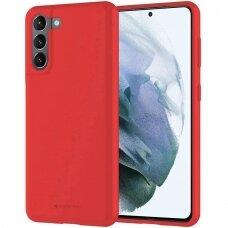 Dėklas Mercury Soft Jelly Case Samsung S21 Plus raudonas