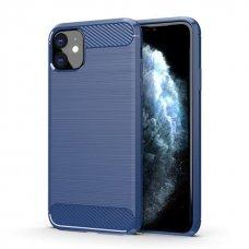 """Dėklas Nugarėlė """"Carbon Flexible"""" Tpu Iphone 11 Mėlynas"""