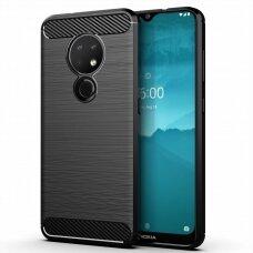 """Dėklas Nugarėlė """"Carbon Flexible"""" Tpu Nokia 7.2 / Nokia 6.2 Juodas"""