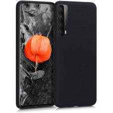 Dėklas Rubber TPU Huawei P Smart 2021 juodas