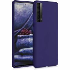 Dėklas Rubber TPU Huawei P Smart 2021 tamsiai mėlynas