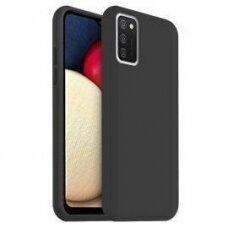 Dėklas Rubber TPU Samsung A03s EU juodas