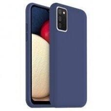 Dėklas Rubber TPU Samsung A03s EU tamsiai mėlynas
