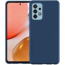 Dėklas Rubber TPU Samsung A726 A72 5G tamsiai mėlynas