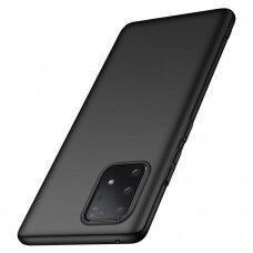 Dėklas Rubber TPU Samsung S10 Lite/A91 juodas UCS005