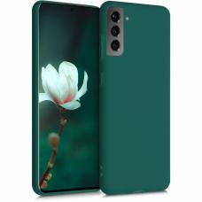 Dėklas Rubber TPU Samsung S21/S30 tamsiai žalias