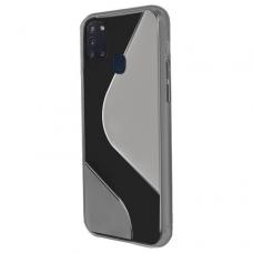 Dėklas S-Case Flexible Cover Tpu Case For Samsung Galaxy M21 Juodas