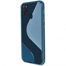 Dėklas S-Case Flexible Cover Tpu Case For Samsung Galaxy M21 Mėlynas