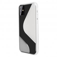 Dėklas S-Case Flexible skirta Samsung Galaxy A71 Skaidrus