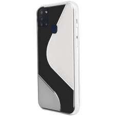 Dėklas S-Case Flexible skirta Samsung Galaxy M21 Skaidrus
