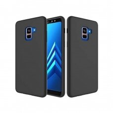Dėklas Silicone Cover Samsung A530 A8 2018 juodas UCS036
