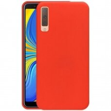 Dėklas Silicone Cover Samsung A750 A7 2018 raudonas UCS037