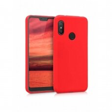 Dėklas Silicone Cover Xiaomi Mi A2 Lite/6 Pro Raudonas