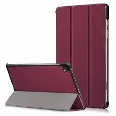 Dėklas Smart Leather Samsung T500/T505 Tab A7 10.4 2020 bordo