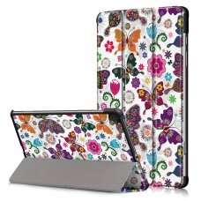 Dėklas Smart Leather Samsung T500/T505 Tab A7 10.4 2020 butterfly