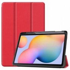 Dėklas Smart Leather Samsung T870/T875 Tab S7 raudonas