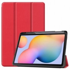 Dėklas Smart Leather Samsung T970/T976 Tab S7+ raudonas