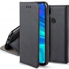 Dėklas Smart Magnet Huawei P Smart 2019/Honor 10 Lite Juodas