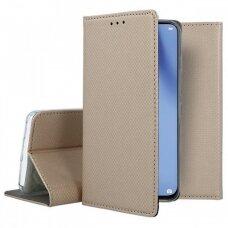 Dėklas Smart Magnet Huawei P40 Lite auksinis UCS068