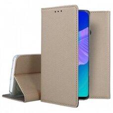 Dėklas Smart Magnet Huawei P40 Lite E auksinis UCS067