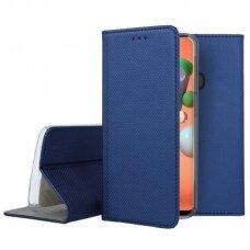 Dėklas Smart Magnet Huawei P40 Tamsiai Mėlynas