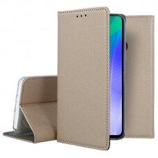 Dėklas Smart Magnet Huawei Y6P aukso spalvos UCS094