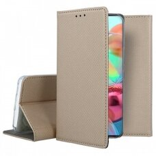 Dėklas Smart Magnet Samsung A715 A71 auksinis UCS024