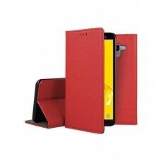 Dėklas Smart Magnet Samsung J600 J6 2018 raudonas UCS048