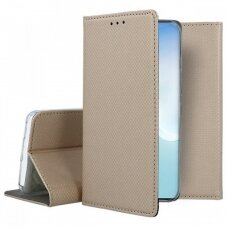 Dėklas Smart Magnet Samsung Note 10 Lite/A81 Auksinis