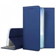 Dėklas Smart Magnet Samsung Note 10 Lite/A81 Tamsiai Mėlynas