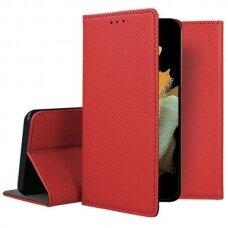 Dėklas Smart Magnet Samsung S21 Ultra/S30 Ultra raudonas