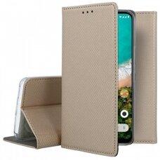 Dėklas Smart Magnet Xiaomi Mi A3 Lite/Mi 9 Lite/CC9 auksinis UCS129