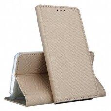 Dėklas Smart Magnet Xiaomi Mi Note 10/Mi Note 10 Pro/Mi CC9 Pro auksinis UCS103