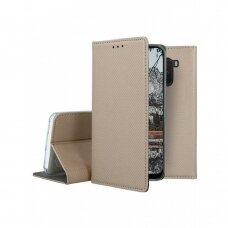 Dėklas Smart Magnet Xiaomi Pocophone F1 auksinis UCS109