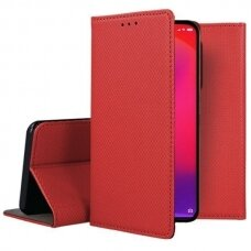 Dėklas Smart Magnet Xiaomi Redmi 9 raudonas