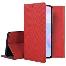 Dėklas Smart Magnet Xiaomi Redmi 9A raudonas