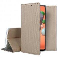 Dėklas Smart Magnet Xiaomi Redmi Note 9 Auksinis