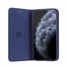 Dėklas Smart Senso Samsung A726 A72 5G tamsiai mėlynas