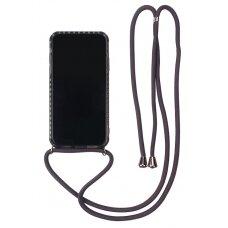 Dėklas Strap Case Apple iPhone 12/12 Pro juodas