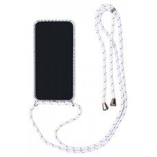 Dėklas Strap Case Apple iPhone XS Max baltas