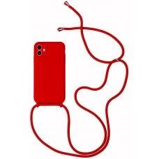 Dėklas Strap Silicone Case Apple iPhone 12/12 Pro raudonas