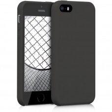 Dėklas Tellos Leather case Apple iPhone 5G/5S juodas