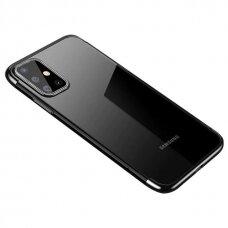 Dėklas Tpu Electroplating Frame Cover skirta Samsung Galaxy A41 Juodas