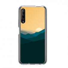 "Dėklas Unikaliu Dizainu ""U-Case Airskin Mountains 2 Design"" 1.0 mm TPU Huawei P Smart Pro Telefonui"