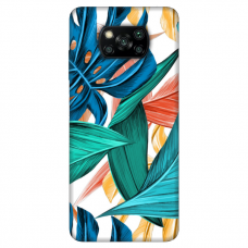 """Dėklas Unikaliu Dizainu """"U-Case Airskin Leaves 1 Design"""" 1.0 mm TPU Xiaomi Poco X3 NFC Telefonui"""