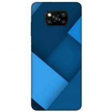 """Dėklas Unikaliu Dizainu """"U-Case Airskin Blue Design"""" 1.0 mm TPU Xiaomi Poco X3 NFC Telefonui"""