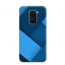 """Dėklas Unikaliu Dizainu """"U-Case Airskin Blue Design"""" 1.0 mm TPU Xiaomi Redmi Note 9 Telefonui"""