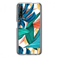 "Dėklas Unikaliu Dizainu ""U-Case Airskin Leaves 1 Design"" 1.0 mm TPU Huawei P Smart Pro Telefonui"