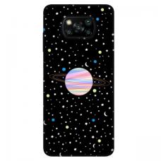 "Dėklas Unikaliu Dizainu ""U-Case Airskin Planet Design"" 1.0 mm TPU Xiaomi Poco X3 NFC Telefonui"